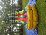 19 foot rainbow marble dry slide