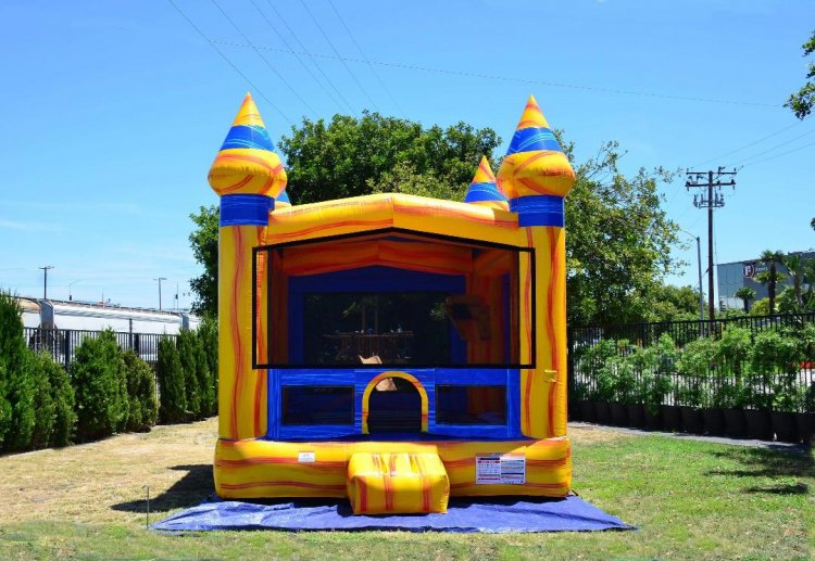 yellow rush bounce house