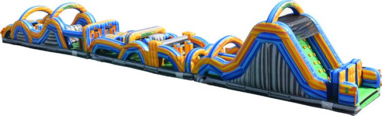 radical run 95 foot obstacle course
